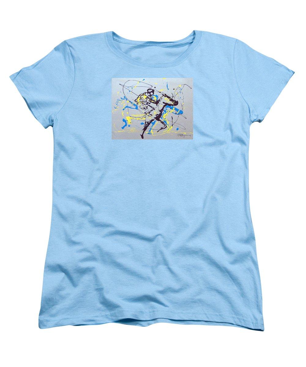 Kentucky Derby Women's T-Shirt (Standard Cut) featuring the painting Great Day In Kentucky by J R Seymour
