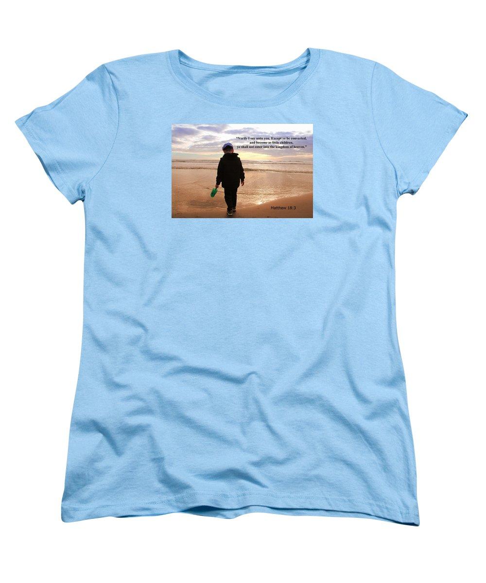 Christians Women's T-Shirt (Standard Cut) featuring the photograph Matthew Eighteen Three by Aaron Berg