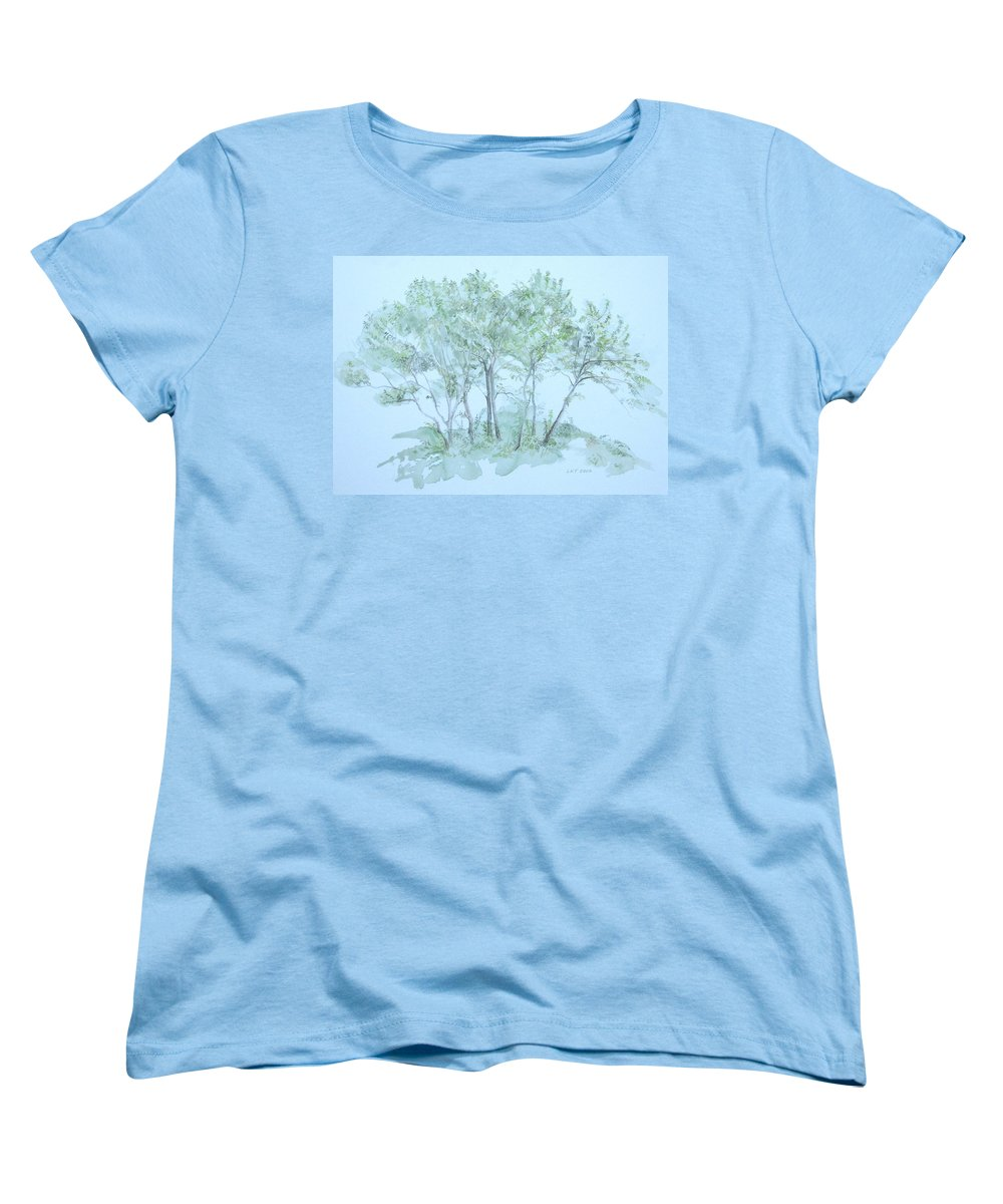 Trees Women's T-Shirt (Standard Cut) featuring the painting Outer Banks by Leah Tomaino