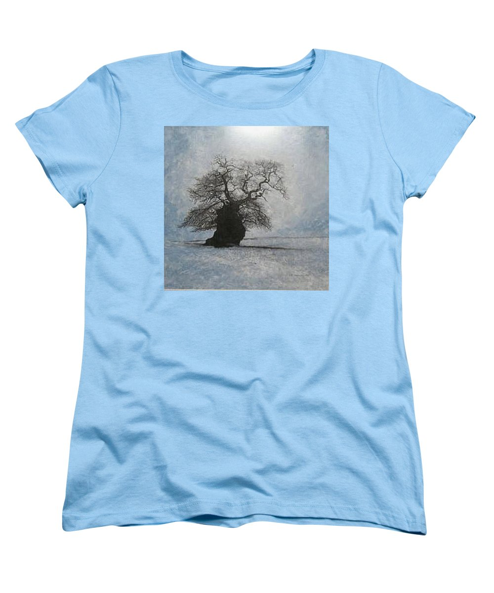 Silhouette Women's T-Shirt (Standard Cut) featuring the painting Stilton Silhouette by Leah Tomaino