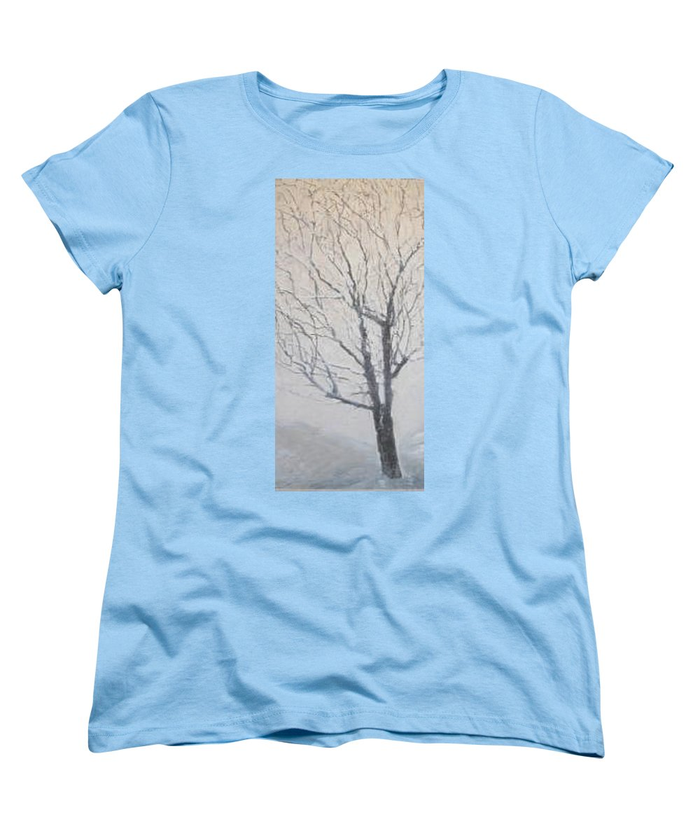 Tree Women's T-Shirt (Standard Cut) featuring the painting Winter by Leah Tomaino