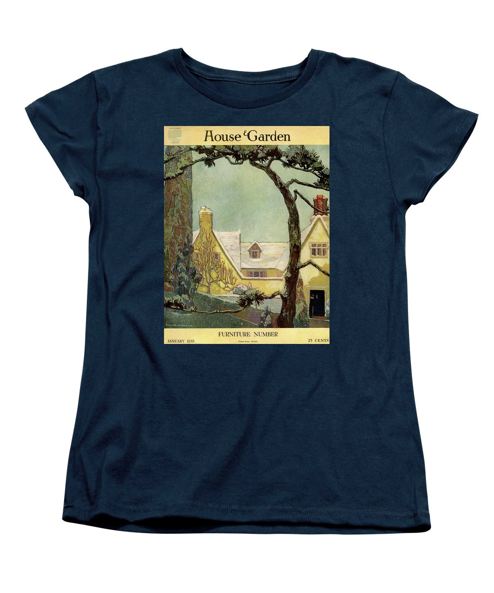 House And Garden Women's T-Shirt (Standard Fit) featuring the photograph An English Country House by Porter Woodruff