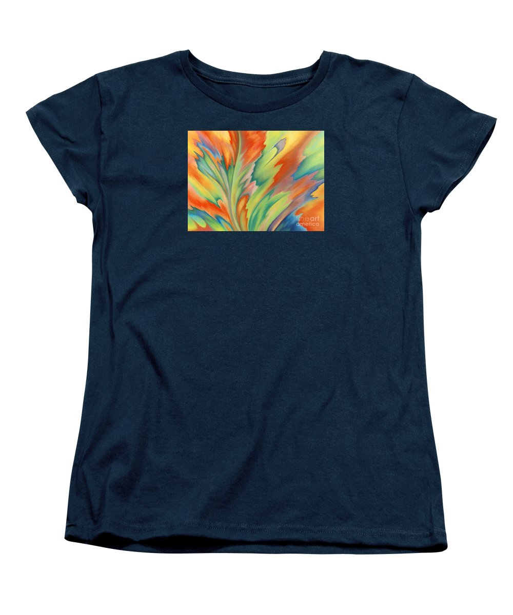 Abstract Women's T-Shirt (Standard Cut) featuring the painting Autumn Flame by Lucy Arnold