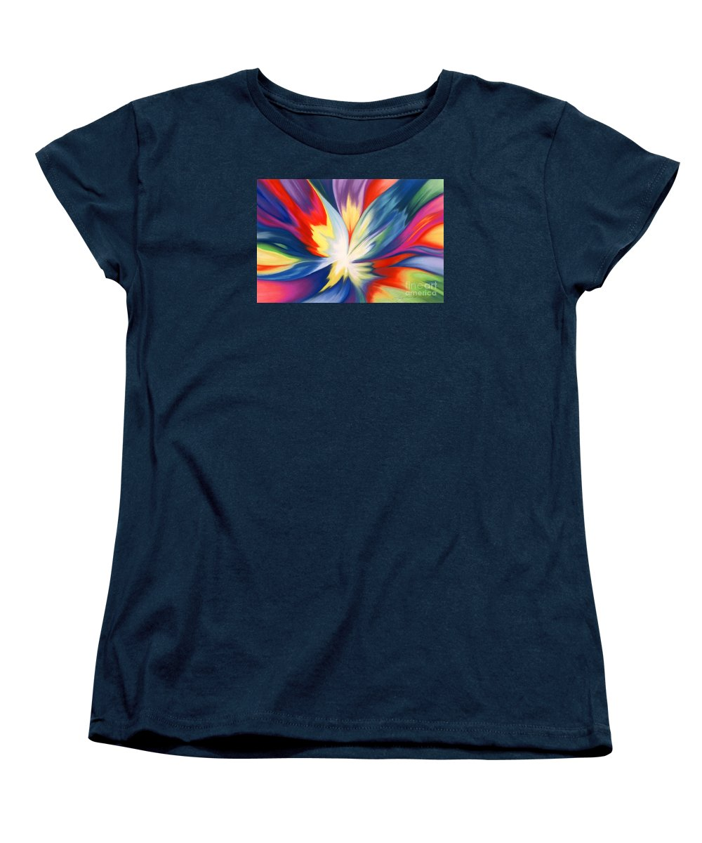 Abstract Women's T-Shirt (Standard Cut) featuring the painting Burst Of Joy by Lucy Arnold