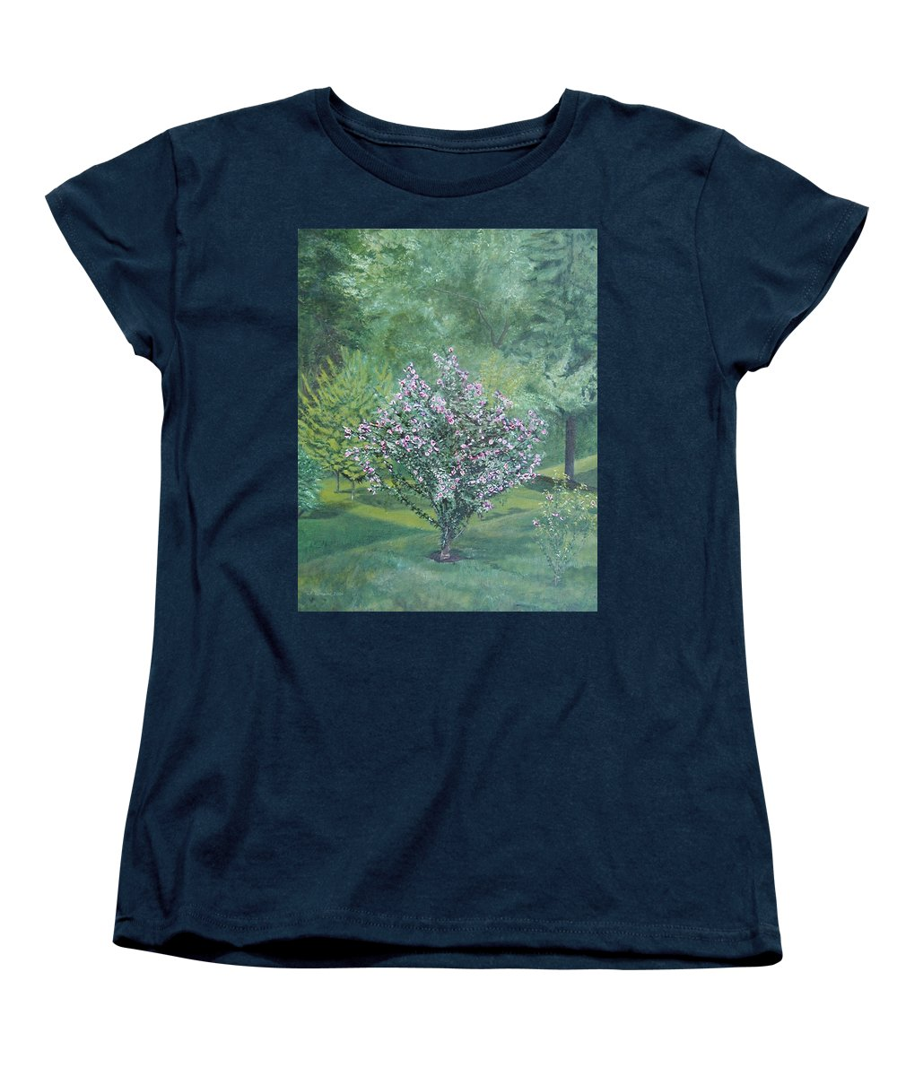 Blooming Women's T-Shirt (Standard Cut) featuring the painting Charles Street by Leah Tomaino