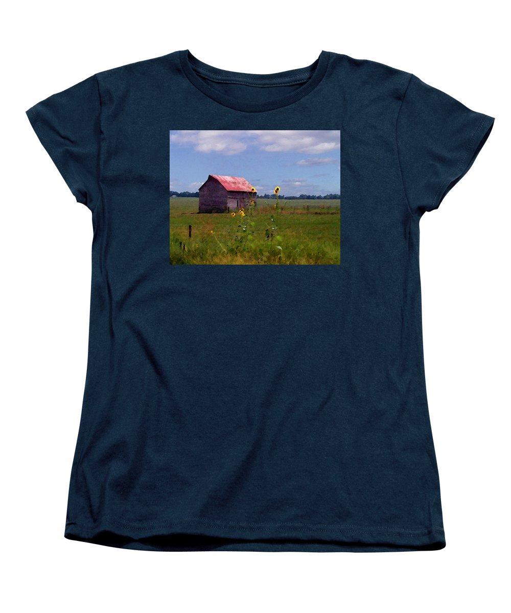 Lanscape Women's T-Shirt (Standard Cut) featuring the photograph Kansas Landscape by Steve Karol
