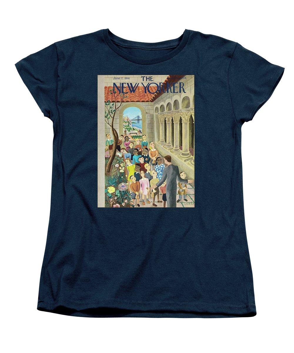 Field Trip Women's T-Shirt (Standard Fit) featuring the painting New Yorker June 7 1941 by Ilonka Karasz