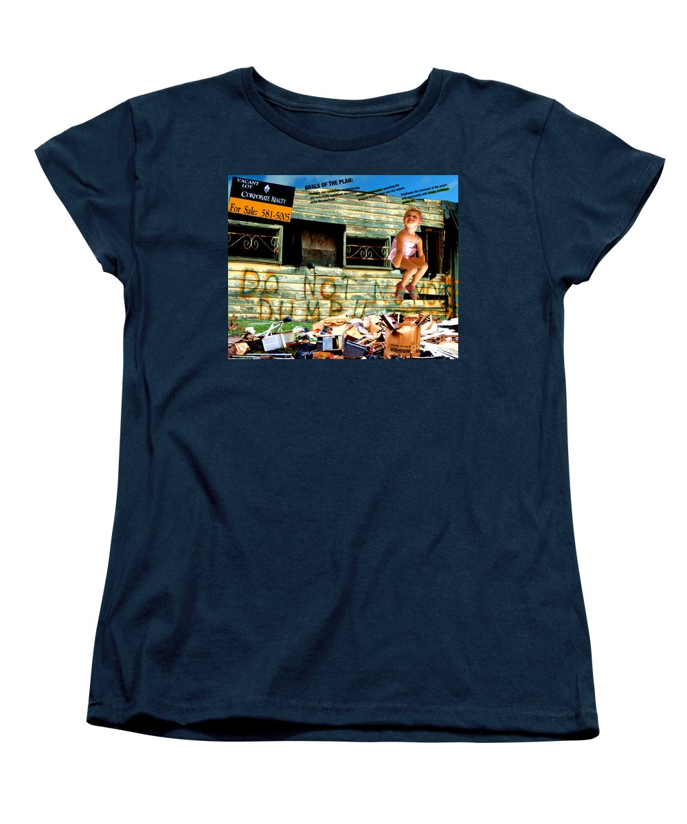 Riverfront Development Women's T-Shirt (Standard Cut) featuring the photograph Riverfront Visions by Ze DaLuz