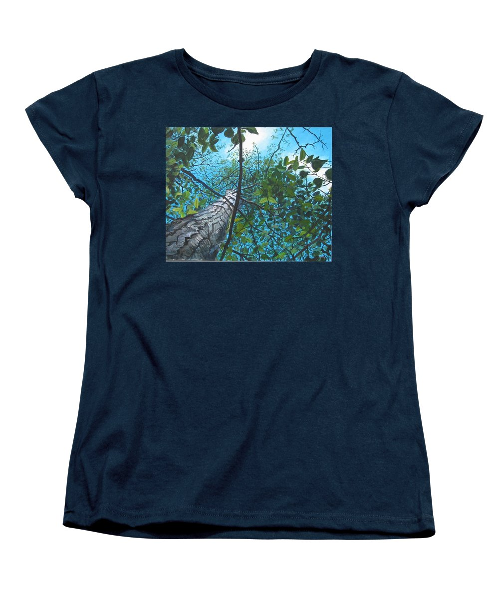 Landscape Women's T-Shirt (Standard Cut) featuring the painting Skyward by William Brody