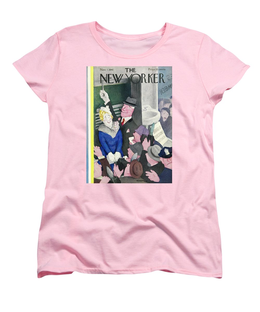 Election Day Women's T-Shirt (Standard Fit) featuring the painting New Yorker November 1 1941 by William Cotton