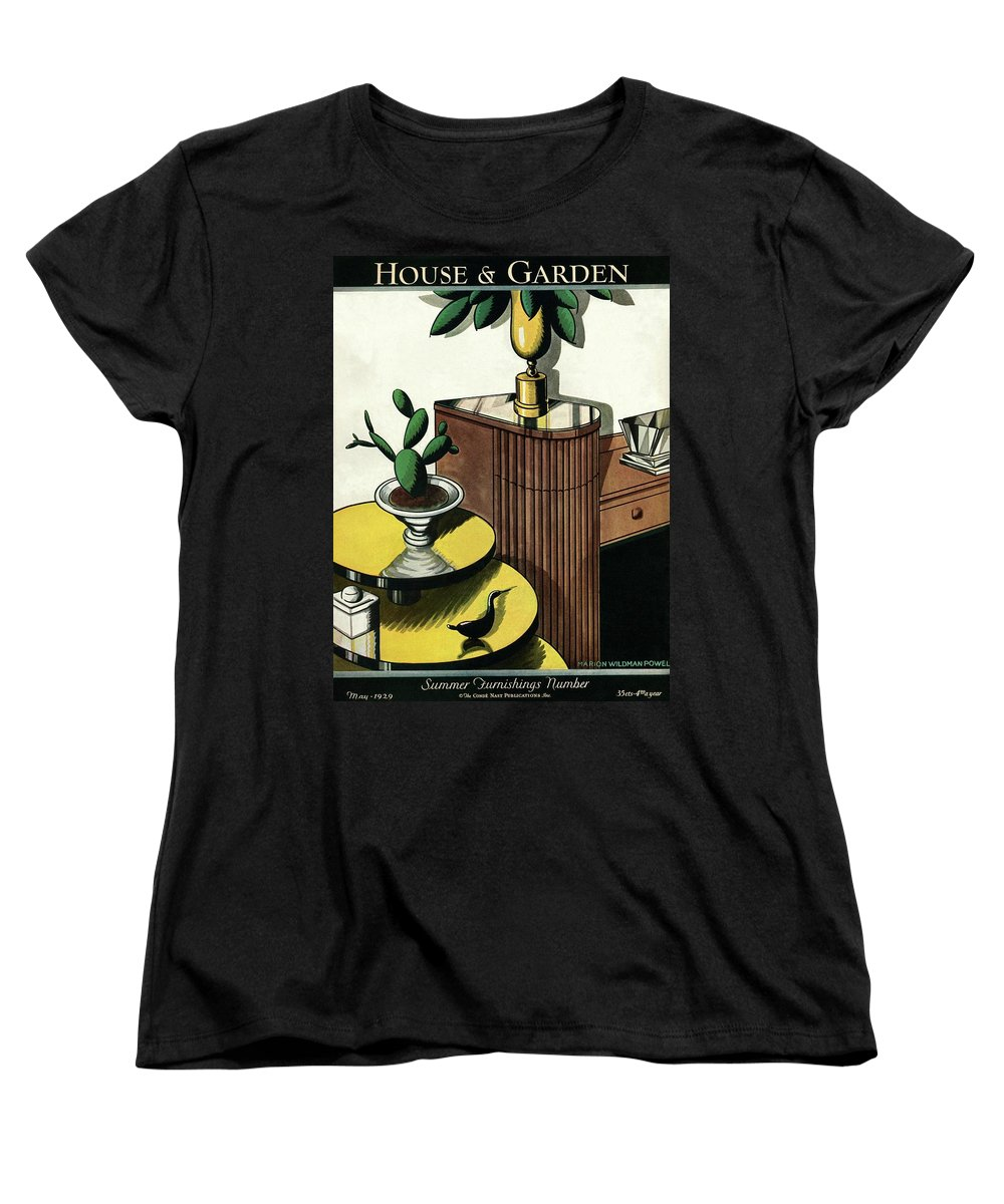 House And Garden Women's T-Shirt (Standard Fit) featuring the photograph House And Garden Household Equipment Number Cover by Marion Wildman
