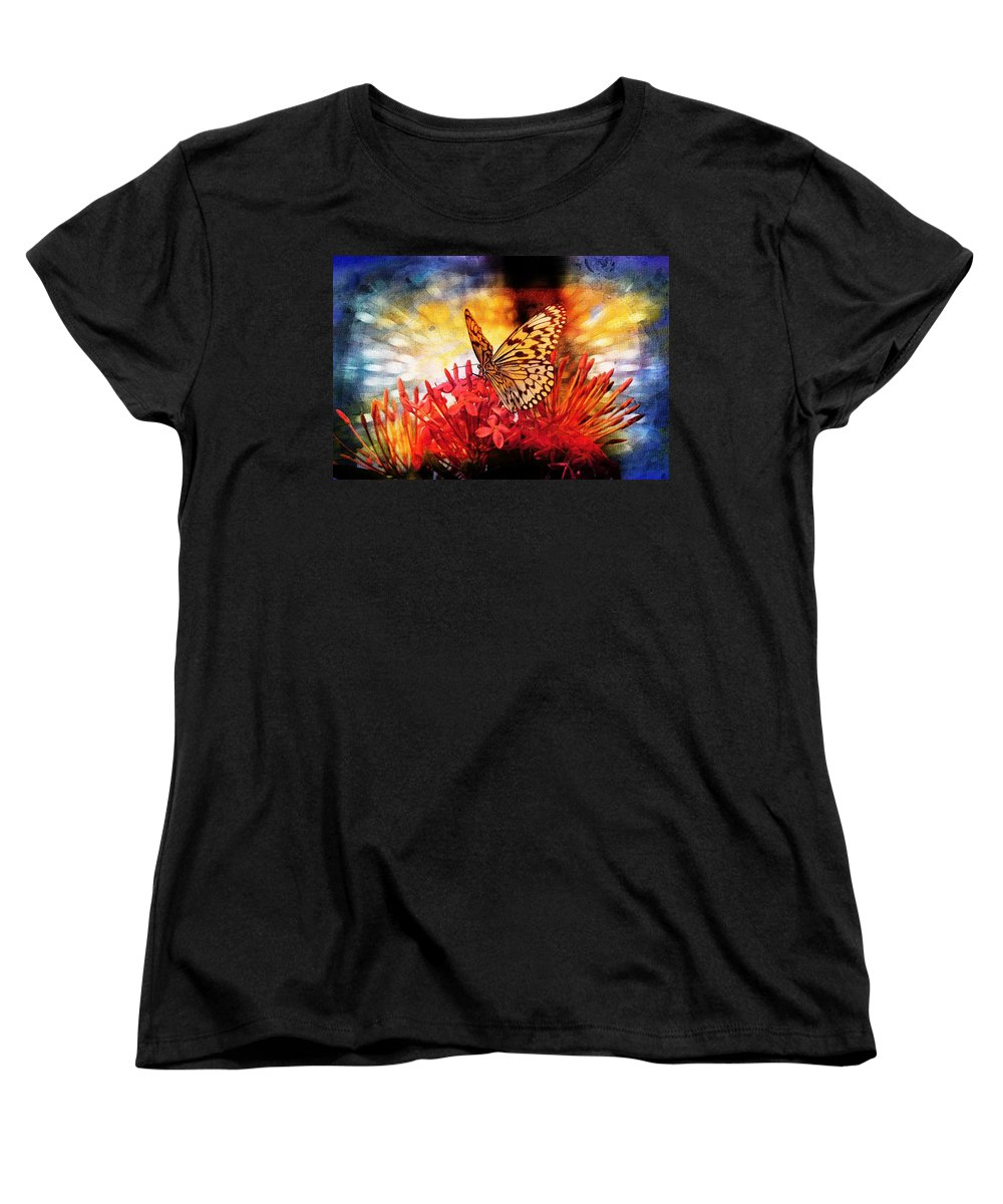 Butterfly Women's T-Shirt (Standard Cut) featuring the photograph Delicate Beauty by Aaron Berg
