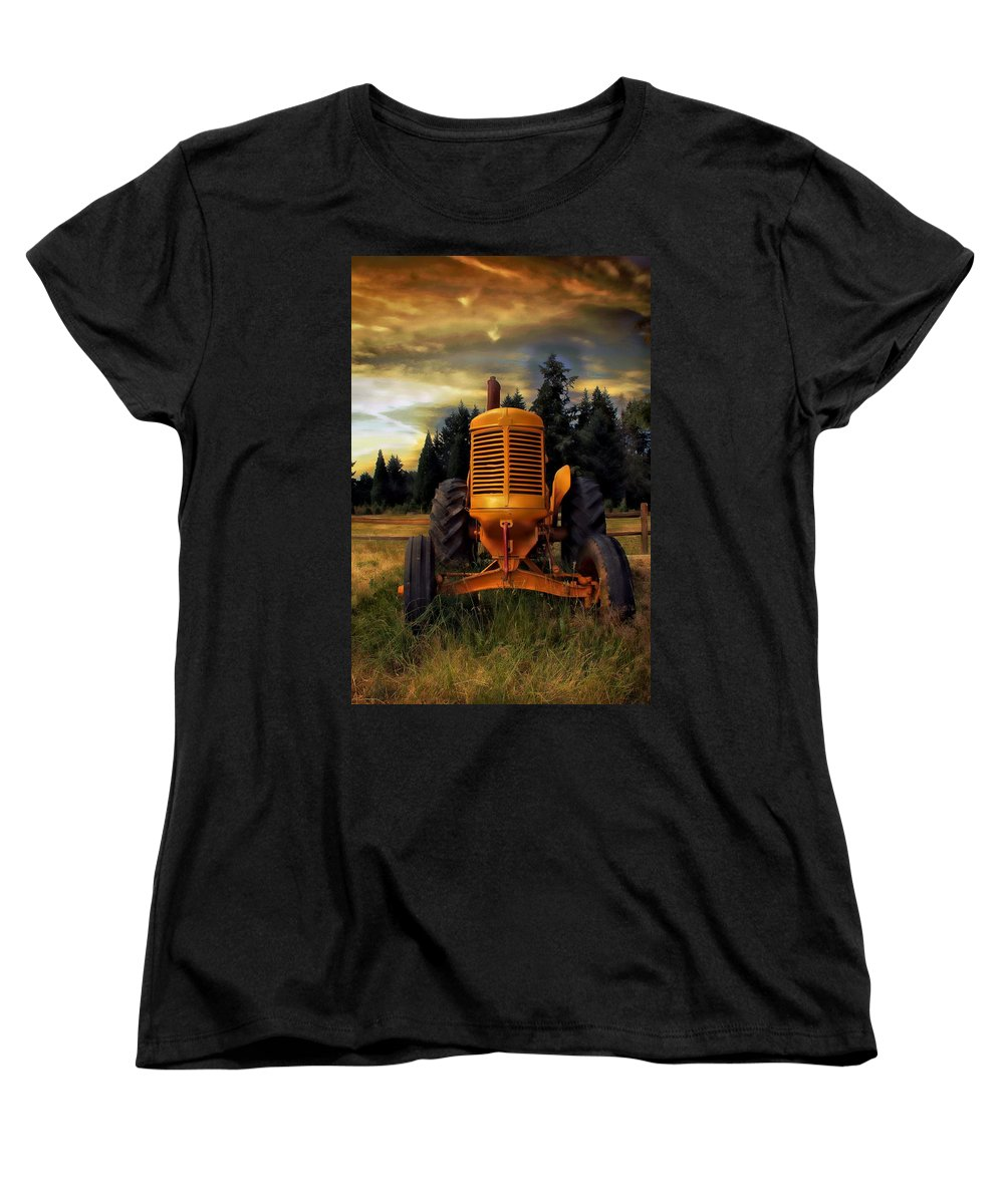 Tractor Women's T-Shirt (Standard Cut) featuring the photograph Farm On by Aaron Berg