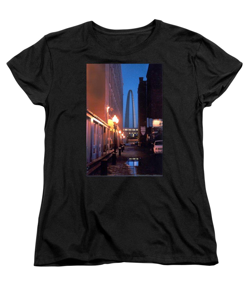 St. Louis Women's T-Shirt (Standard Cut) featuring the photograph St. Louis Arch by Steve Karol