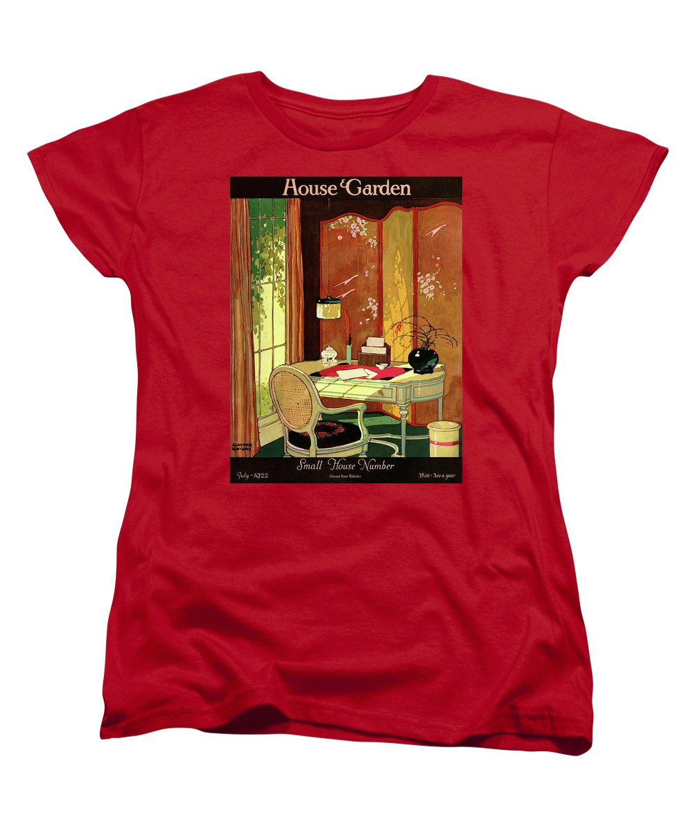 House And Garden Women's T-Shirt (Standard Fit) featuring the photograph House And Garden Small House Number by Clayton Knight