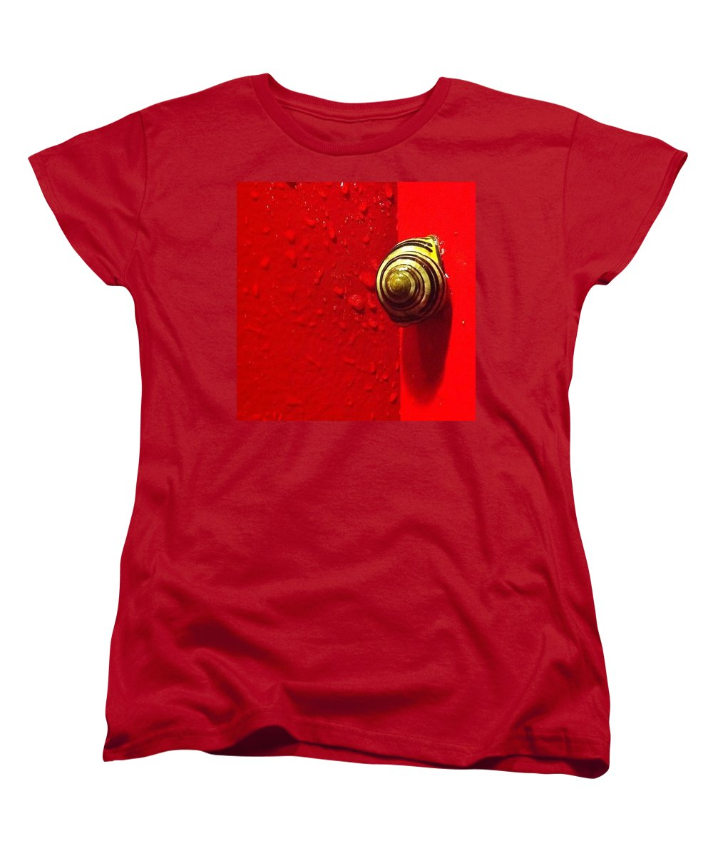 Nofilter Women's T-Shirt (Standard Cut) featuring the photograph Never A Shortage Of #snails Back Here by Katie Cupcakes