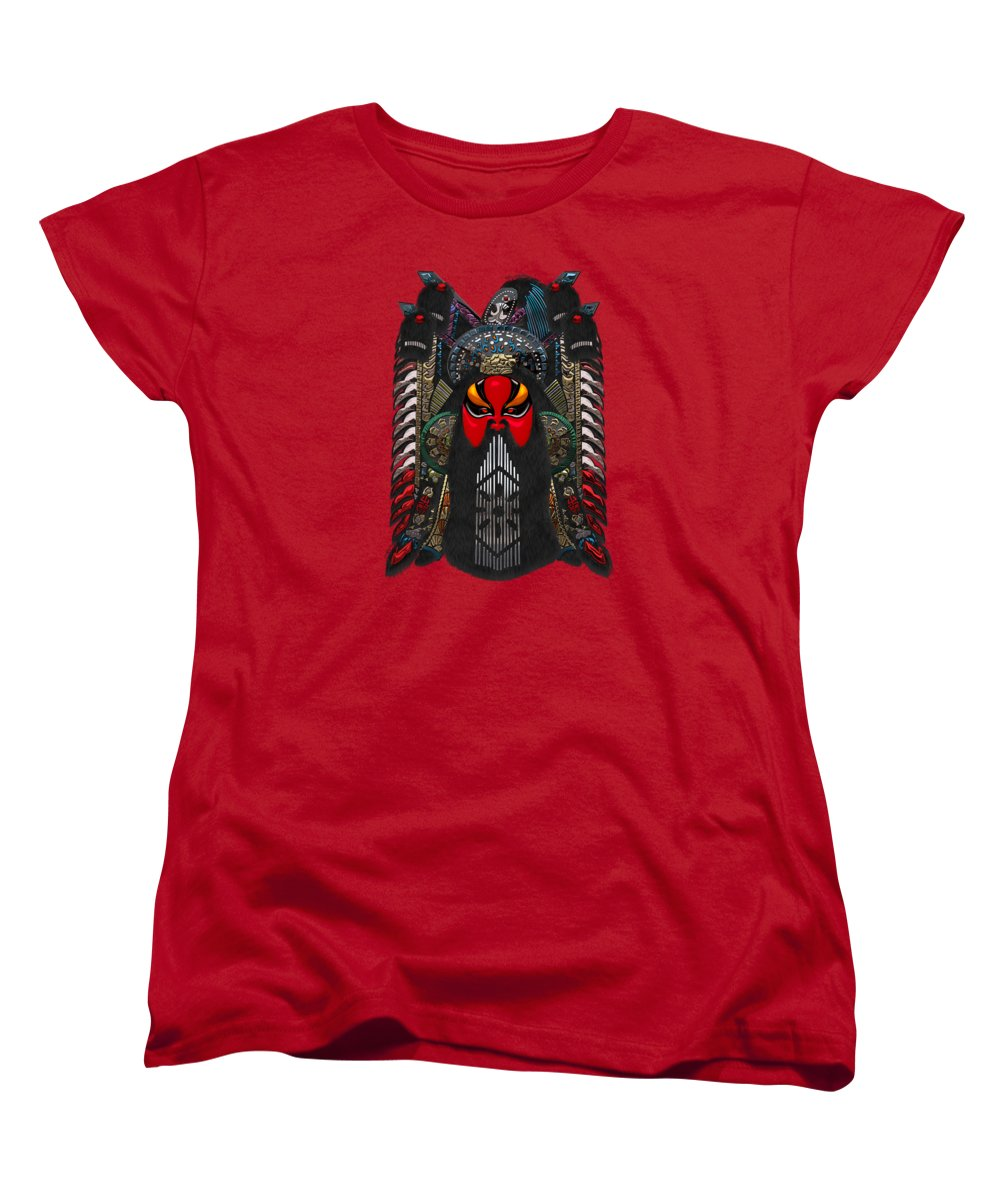 �treasures Of China� By Serge Averbukh Women's T-Shirt (Standard Cut) featuring the photograph Chinese Masks - Large Masks Series - The Red Face by Serge Averbukh
