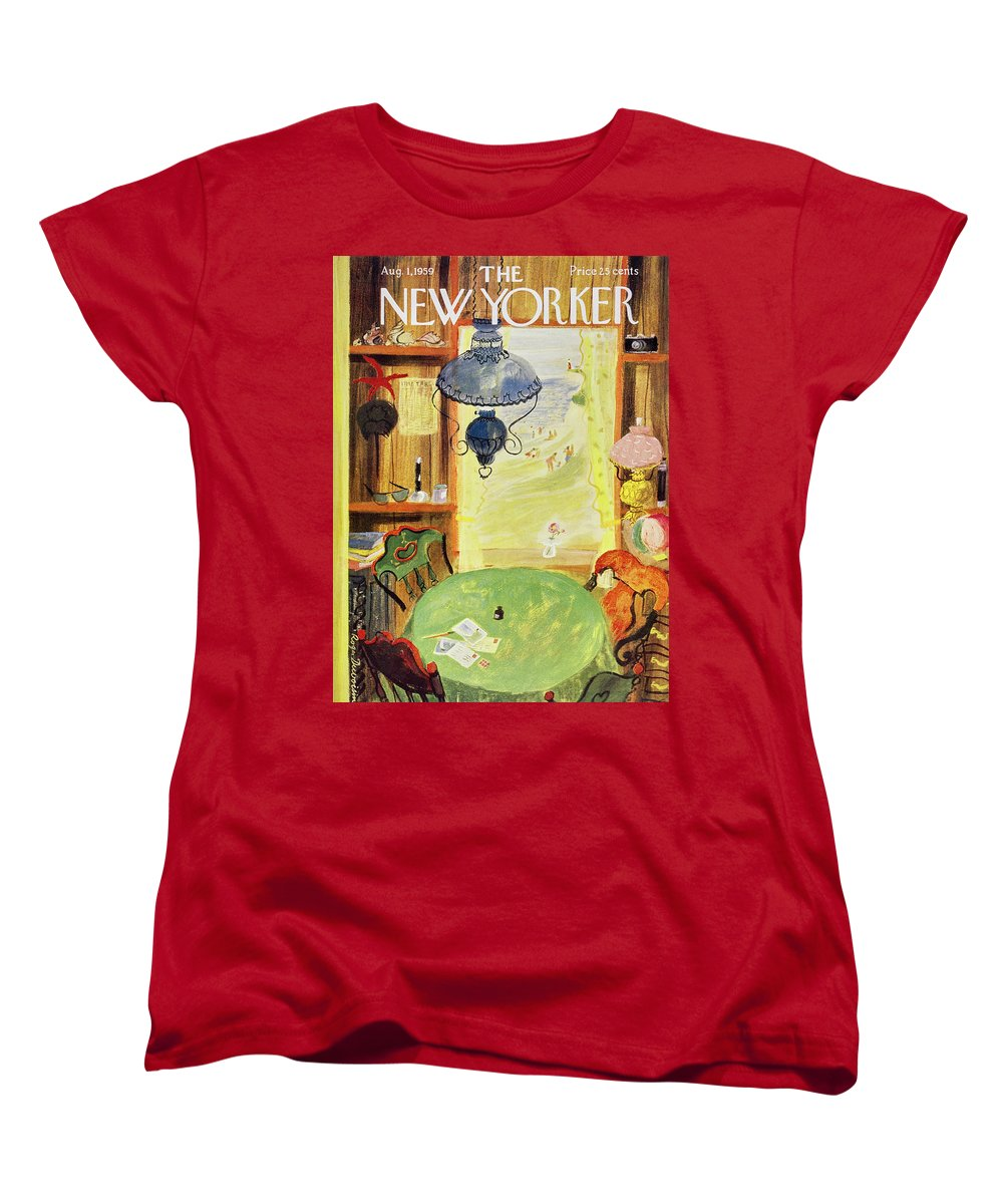 Vacation Women's T-Shirt (Standard Fit) featuring the painting New Yorker August 1 1959 by Roger Duvoisin