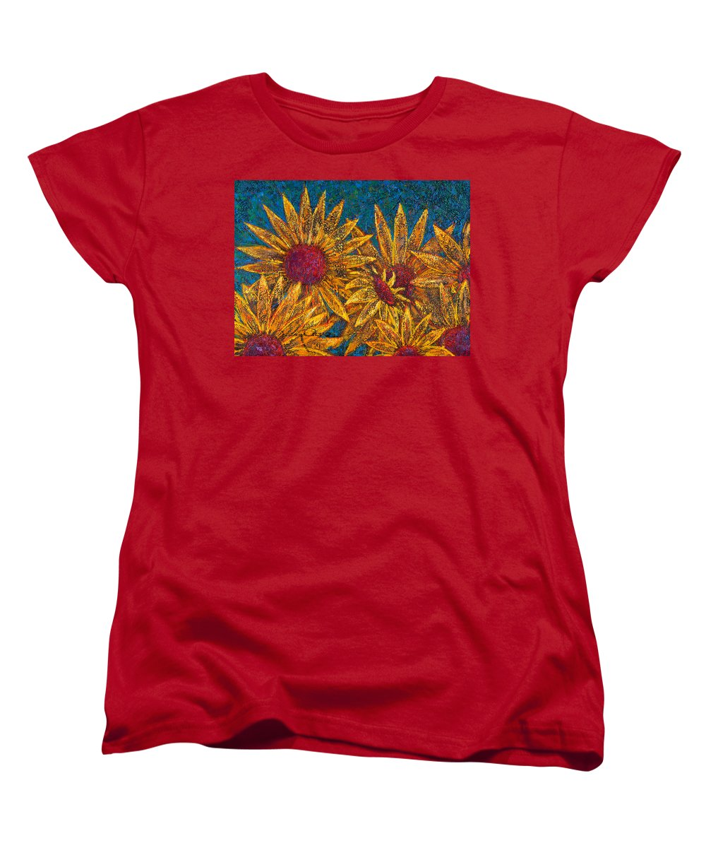 Flowers Women's T-Shirt (Standard Cut) featuring the painting Positivity by Oscar Ortiz