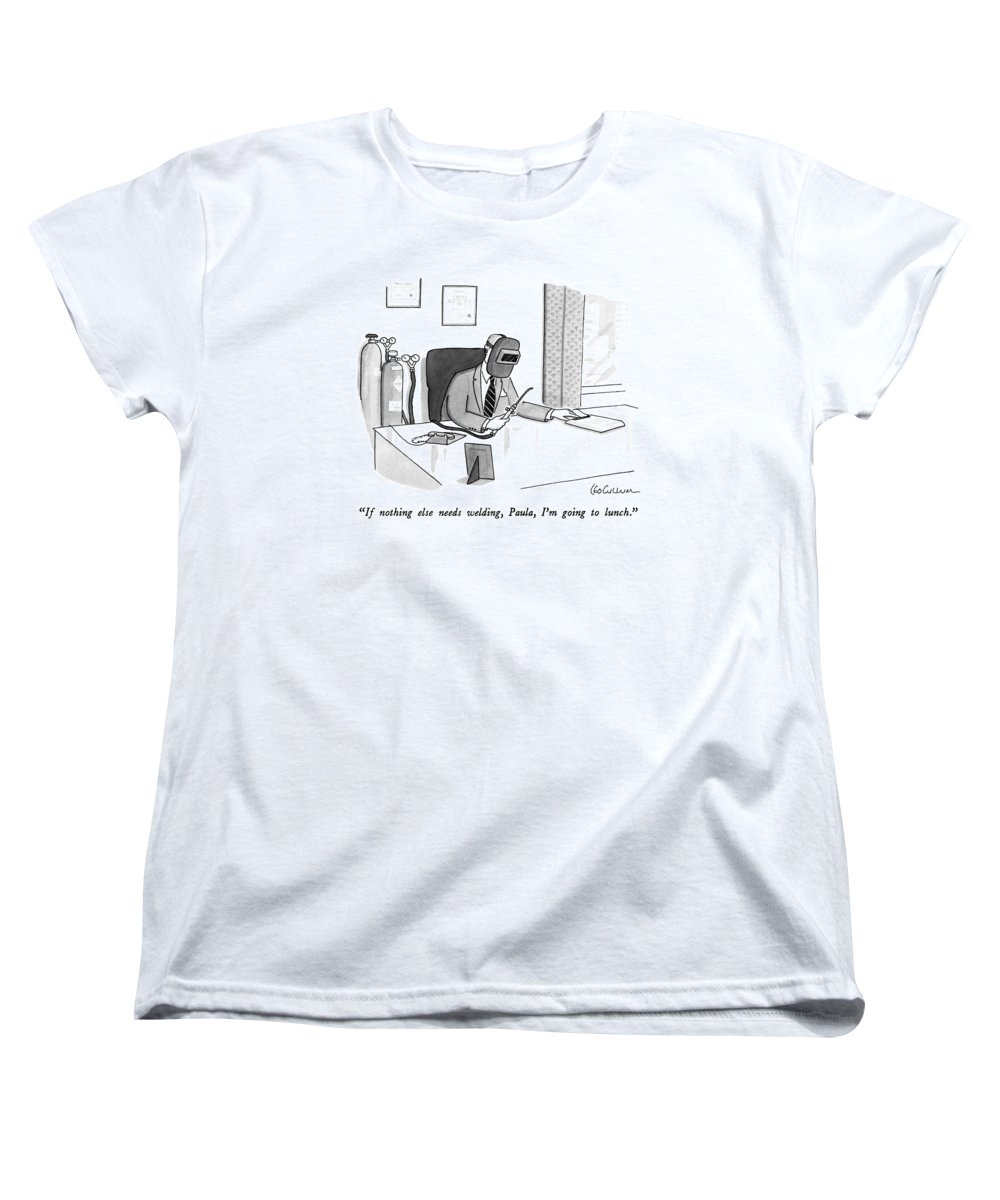 dd95d2c2 Business Women's T-Shirt (Standard Fit) featuring the drawing If Nothing  Else Needs