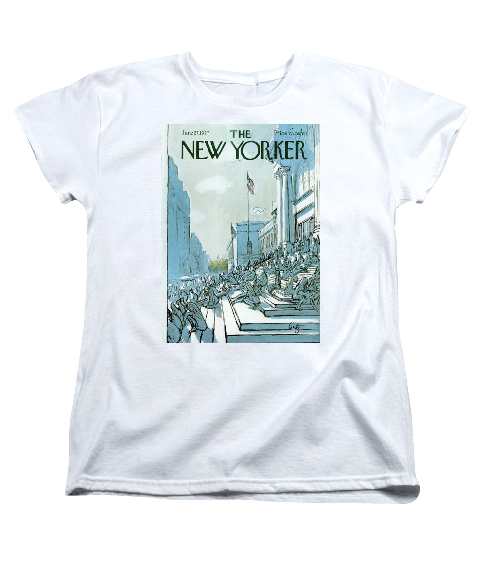 Summer Women's T-Shirt (Standard Fit) featuring the painting New Yorker June 27th, 1977 by Arthur Getz