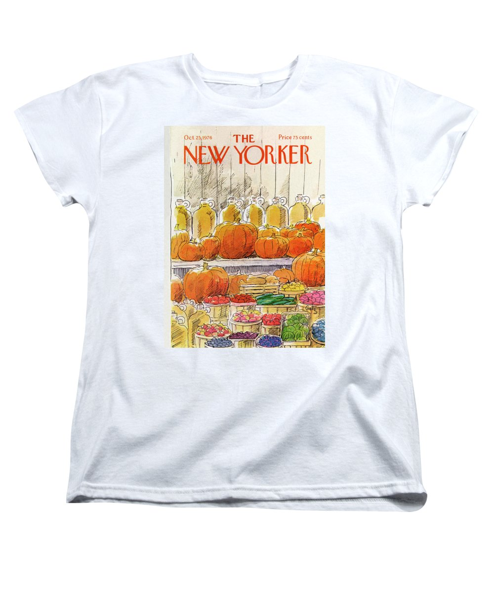 Halloween Women's T-Shirt (Standard Fit) featuring the painting New Yorker October 25th, 1976 by Arthur Getz