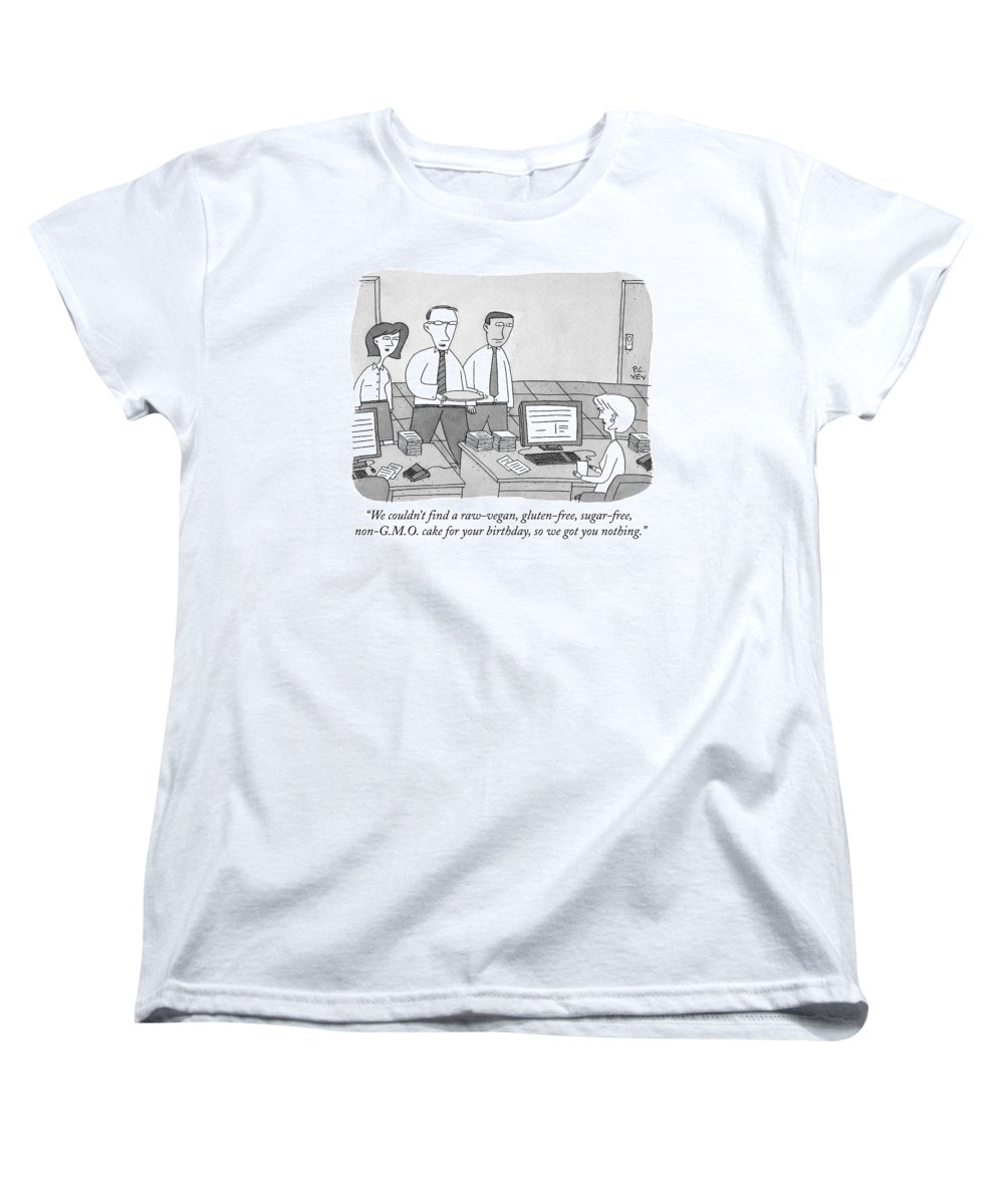 Gluten Women's T-Shirt (Standard Fit) featuring the drawing Three Office Workers by Peter C. Vey
