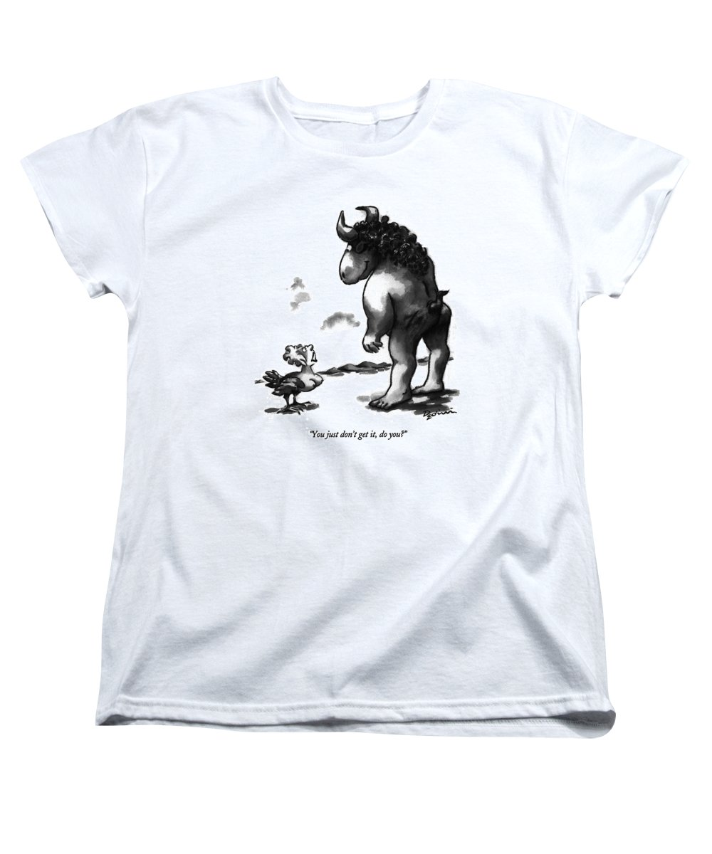 History Women's T-Shirt (Standard Fit) featuring the drawing You Just Don't Get by Eldon Dedini