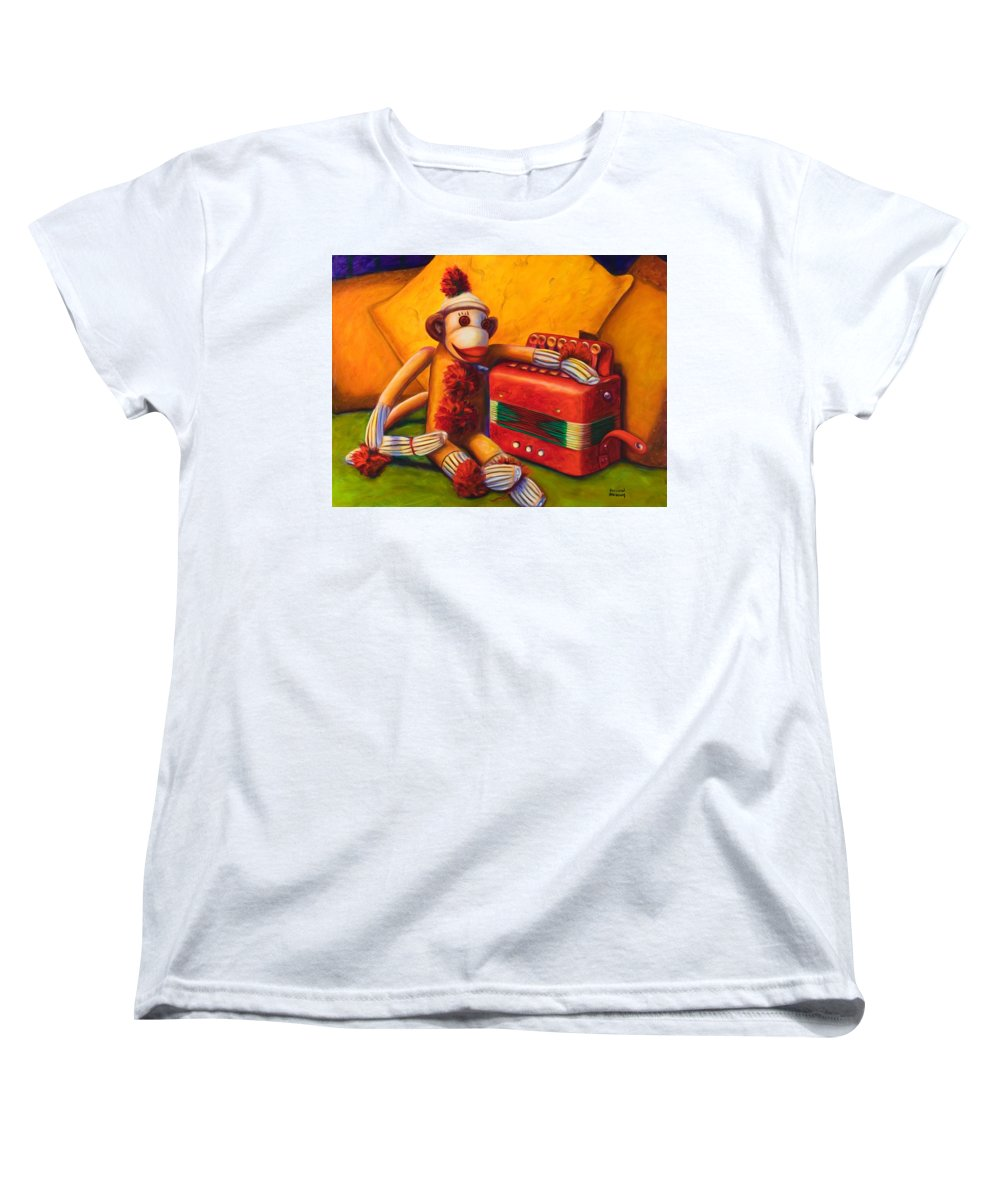 Children Women's T-Shirt (Standard Cut) featuring the painting Accordion by Shannon Grissom
