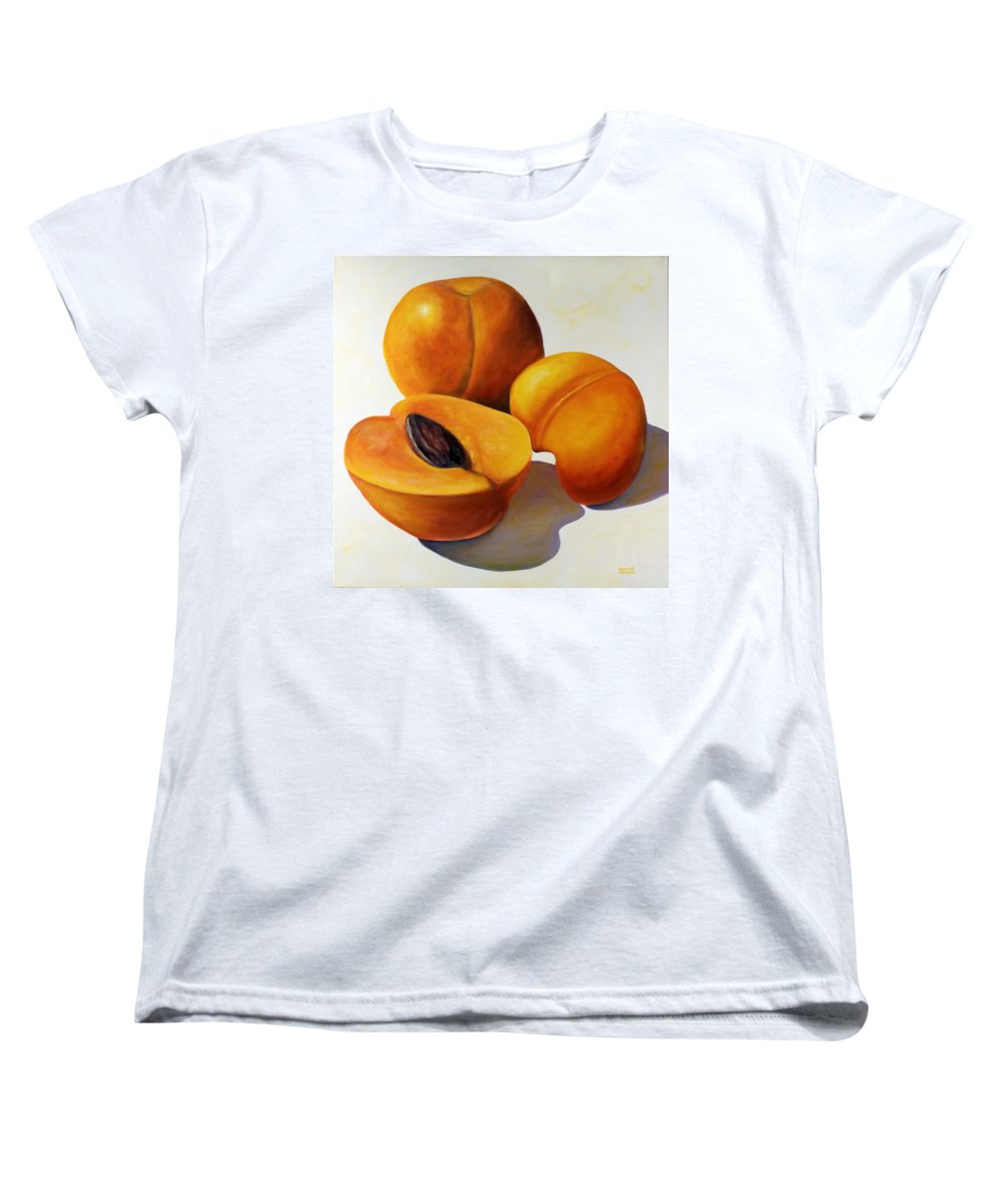 Apricots Women's T-Shirt (Standard Cut) featuring the painting Apricots by Shannon Grissom