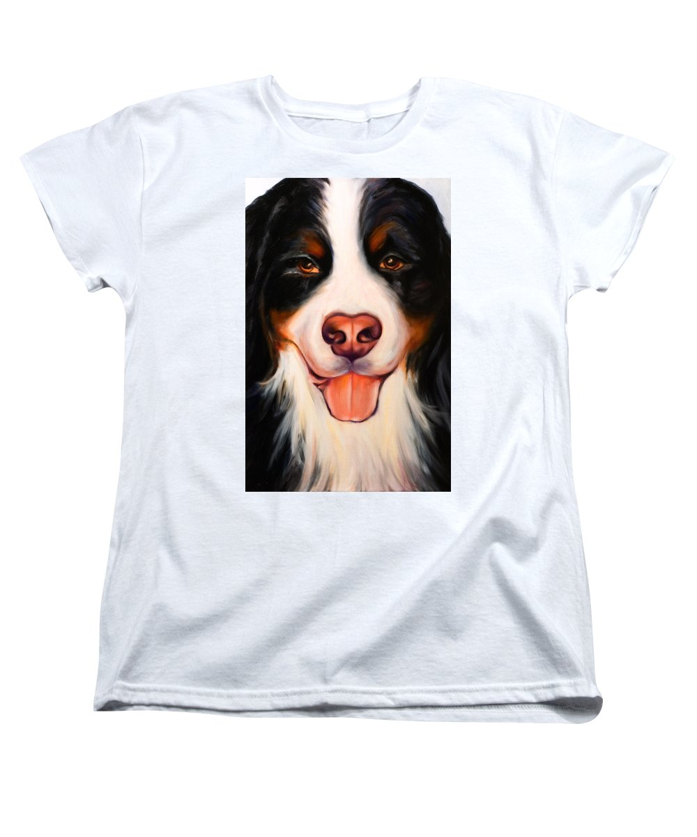 Dog Women's T-Shirt (Standard Cut) featuring the painting Big Willie by Shannon Grissom