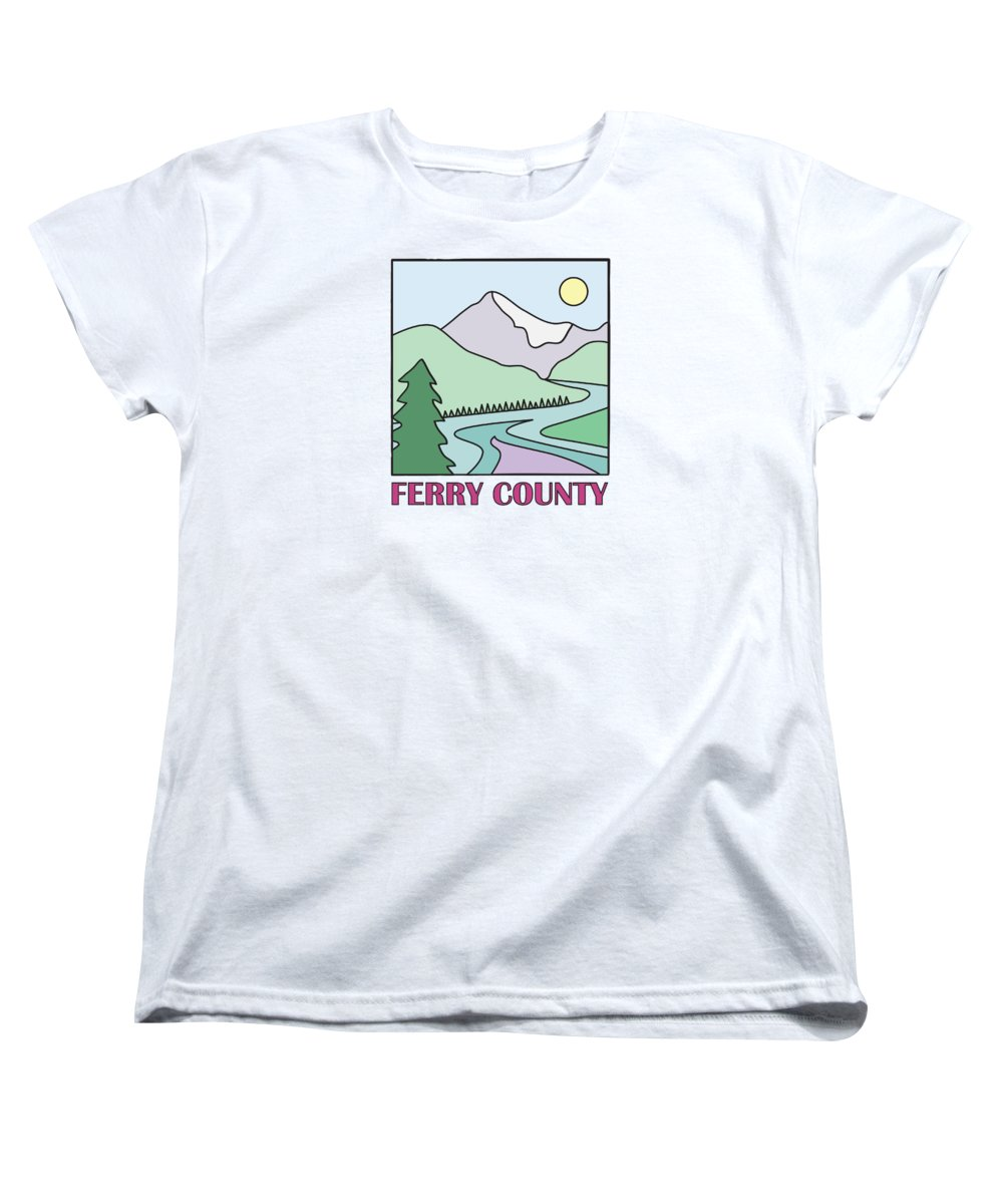 Ferry County Women's T-Shirt (Standard Cut) featuring the photograph Ferry County II by Sarah Lawrence