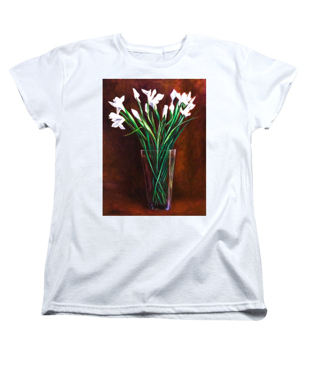 Iris Women's T-Shirt (Standard Cut) featuring the painting Simply Iris by Shannon Grissom