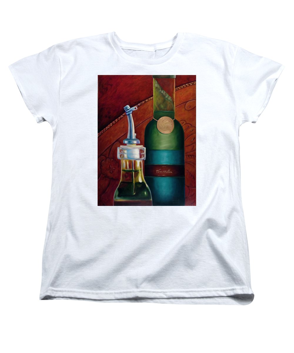 Olive Oil Women's T-Shirt (Standard Cut) featuring the painting Three Million Net by Shannon Grissom
