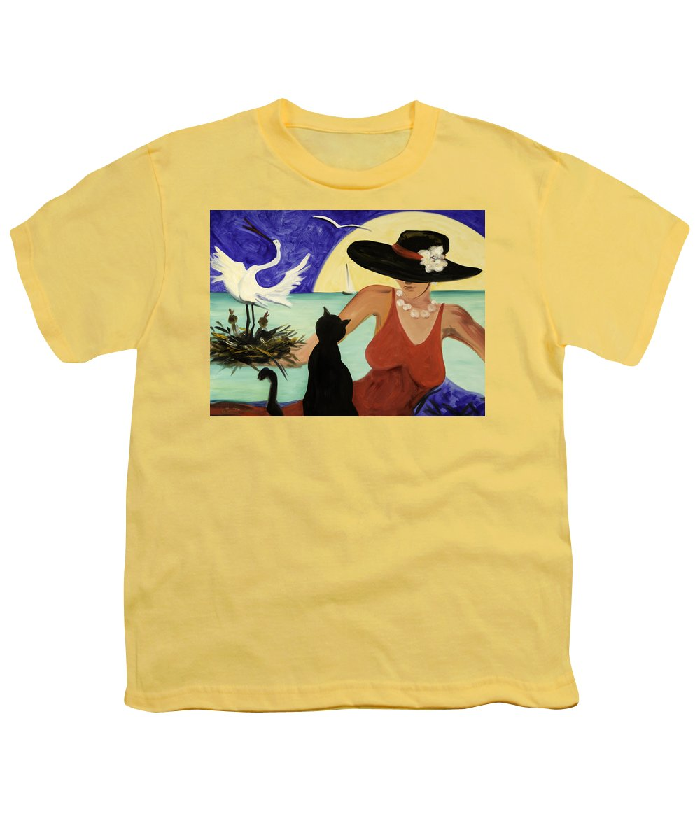 Colorful Art Youth T-Shirt featuring the painting Living The Dream by Gina De Gorna