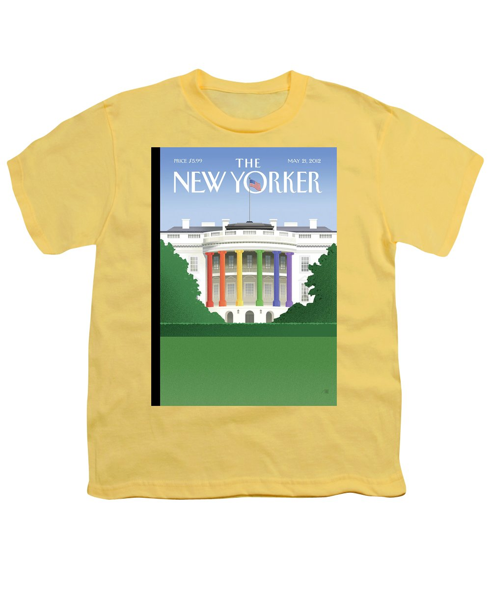 President Youth T-Shirt featuring the painting Spectrum of Light by Bob Staake