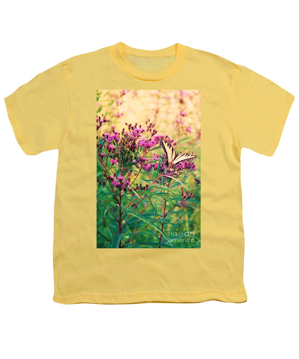 Floral Youth T-Shirt featuring the painting Butterfly Wildflower by Eric Schiabor