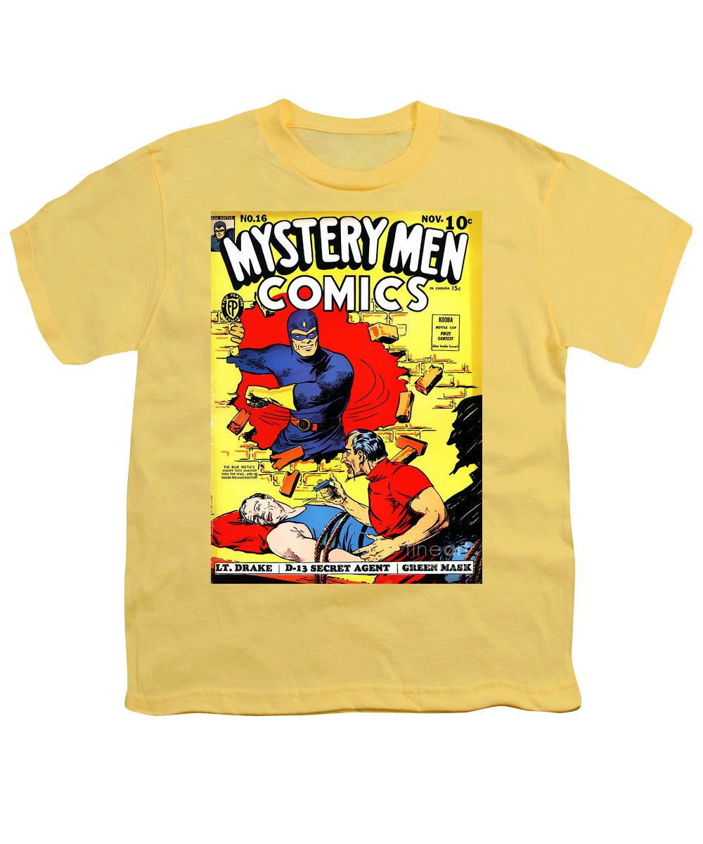Classic Comic Book Cover - Mystery Men Comics - 1200 Youth T-Shirt