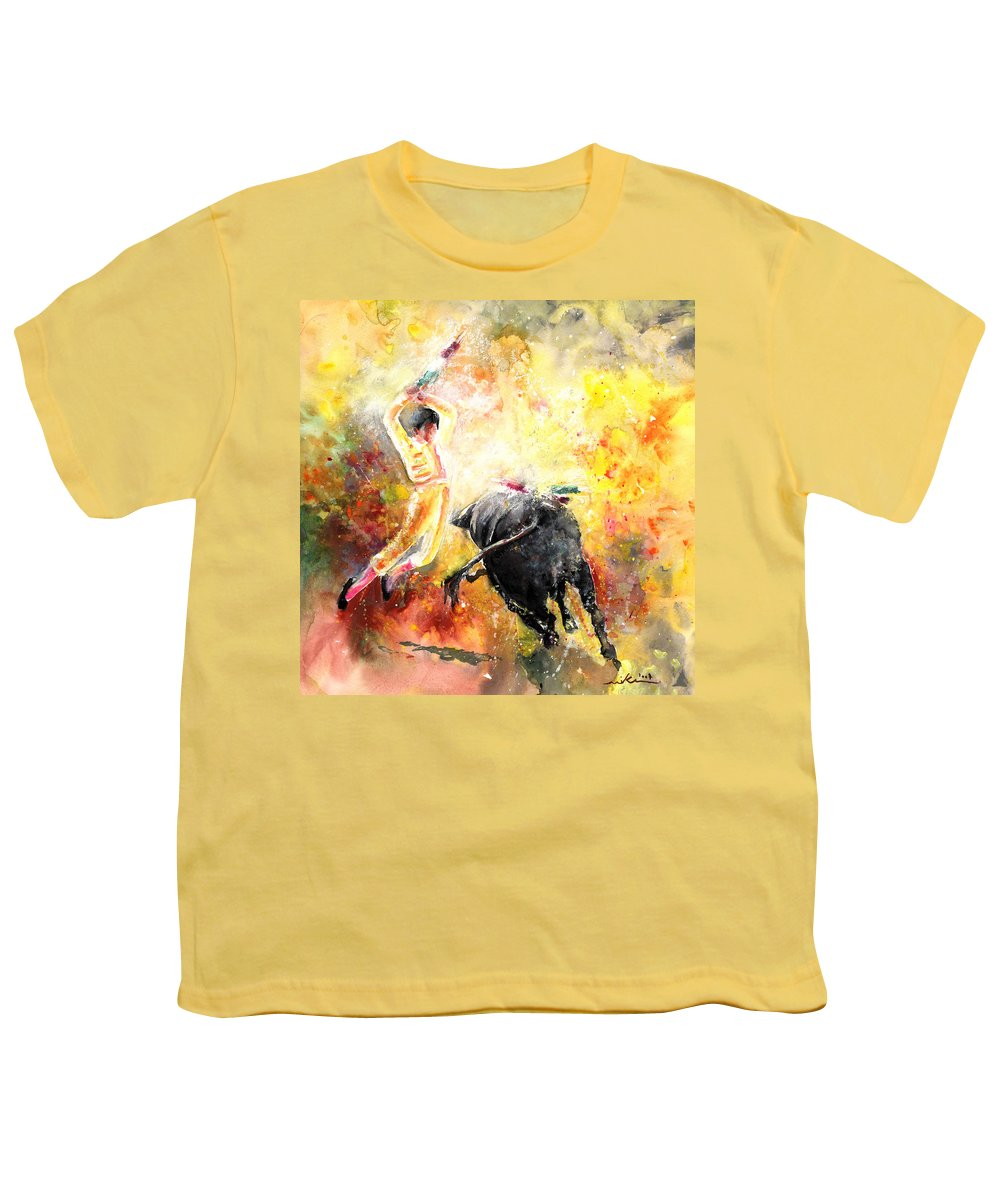 Animals Youth T-Shirt featuring the painting Lightning Strikes by Miki De Goodaboom