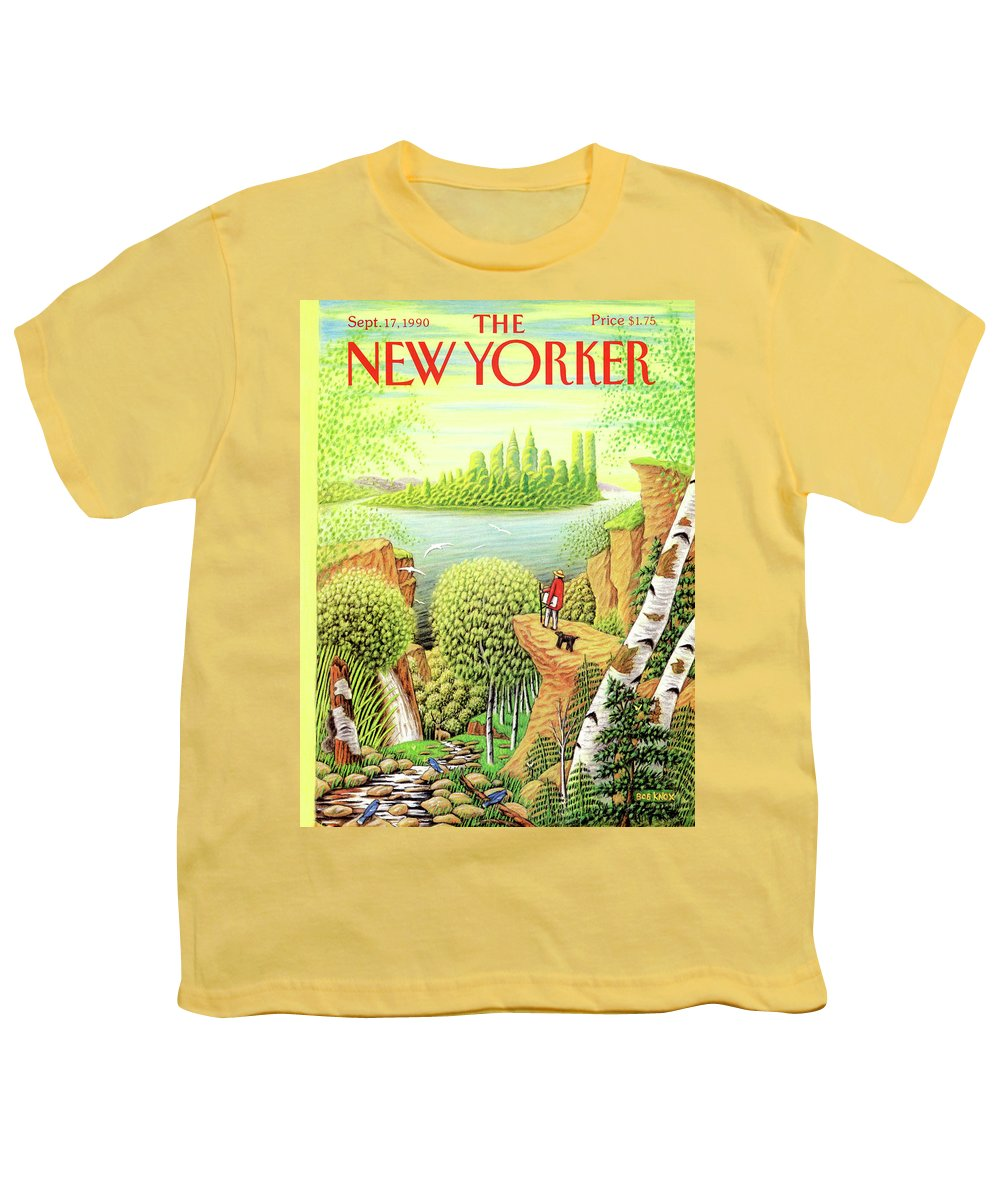 Animal Youth T-Shirt featuring the painting New Yorker September 17, 1990 by Bob Knox