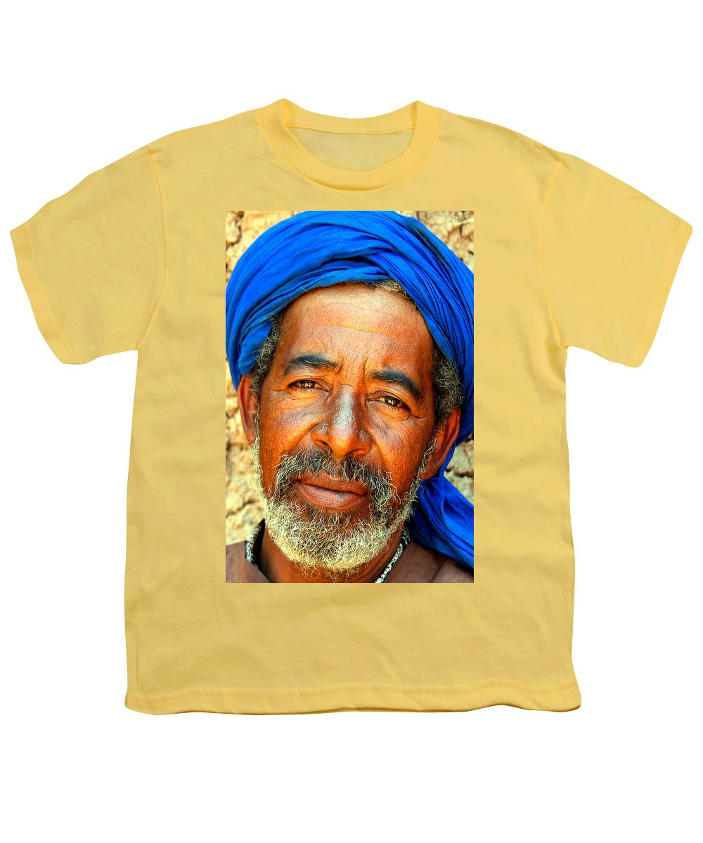 Berber Man Youth T-Shirt featuring the photograph Portrait Of A Berber Man by Ralph A Ledergerber-Photography