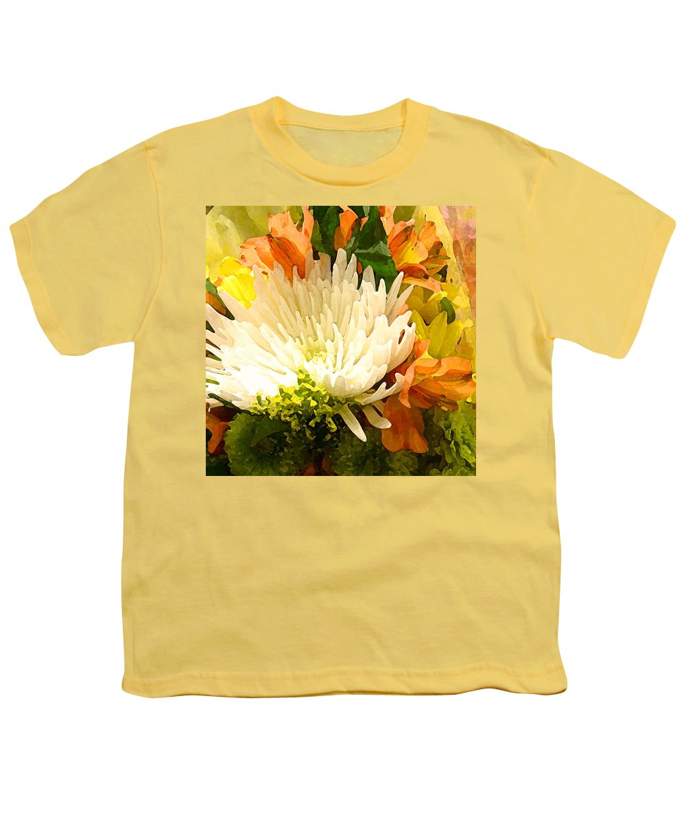 Roses Youth T-Shirt featuring the painting Spring Flower Burst by Amy Vangsgard