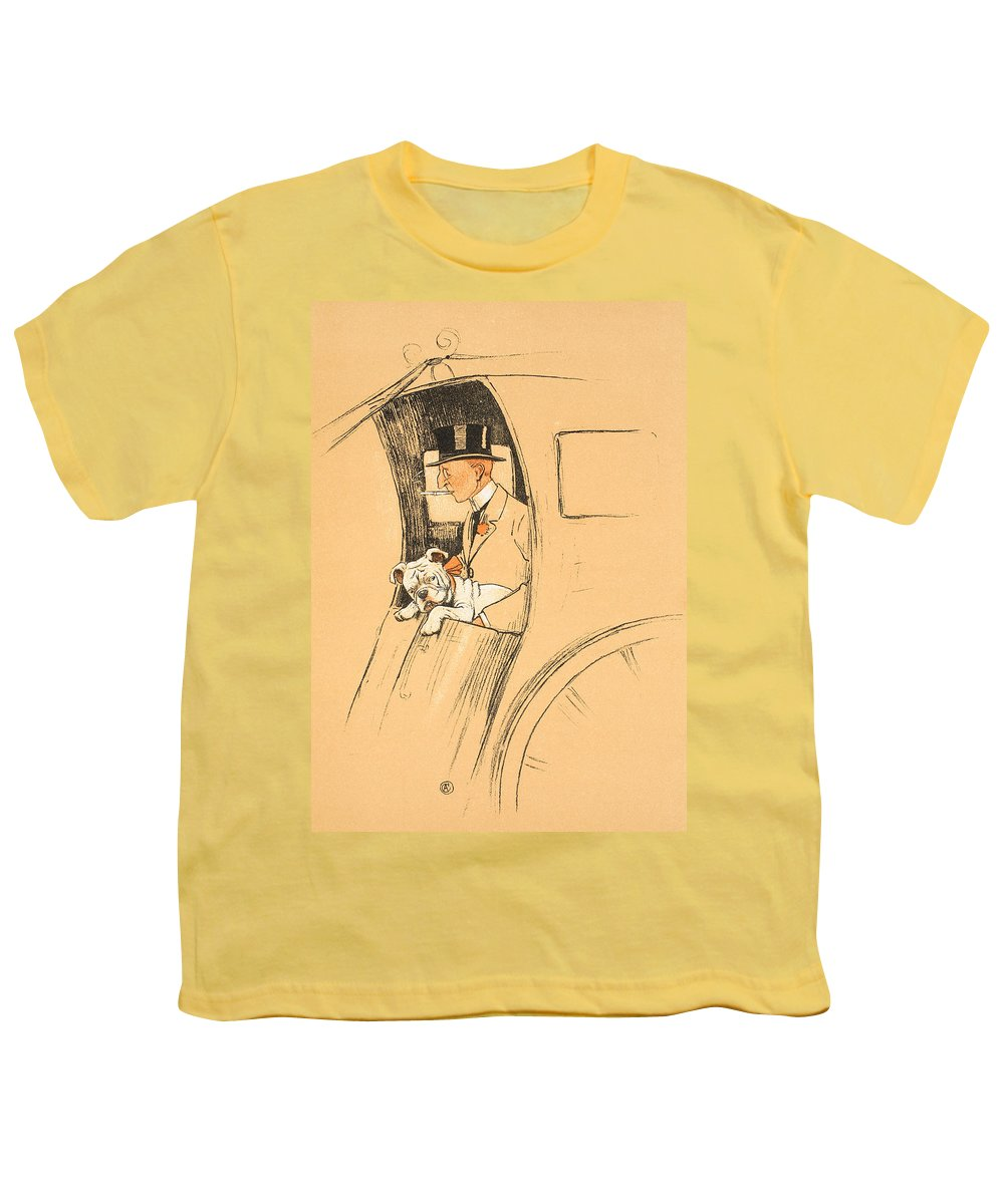 Aldin Youth T-Shirt featuring the painting The Extra Passenger by Cecil Charles Windsor Aldin