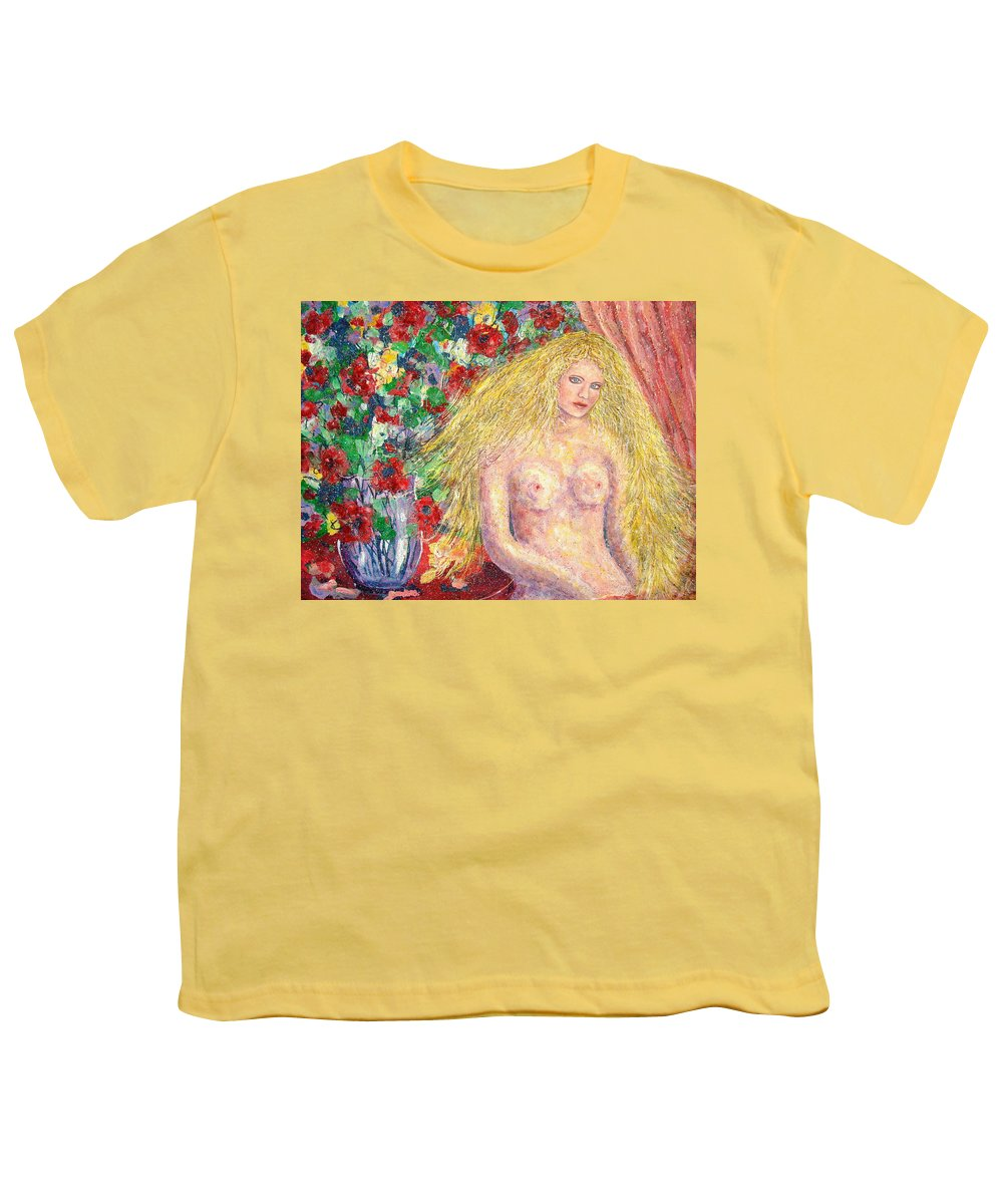 Nude Youth T-Shirt featuring the painting Nude Fantasy by Natalie Holland