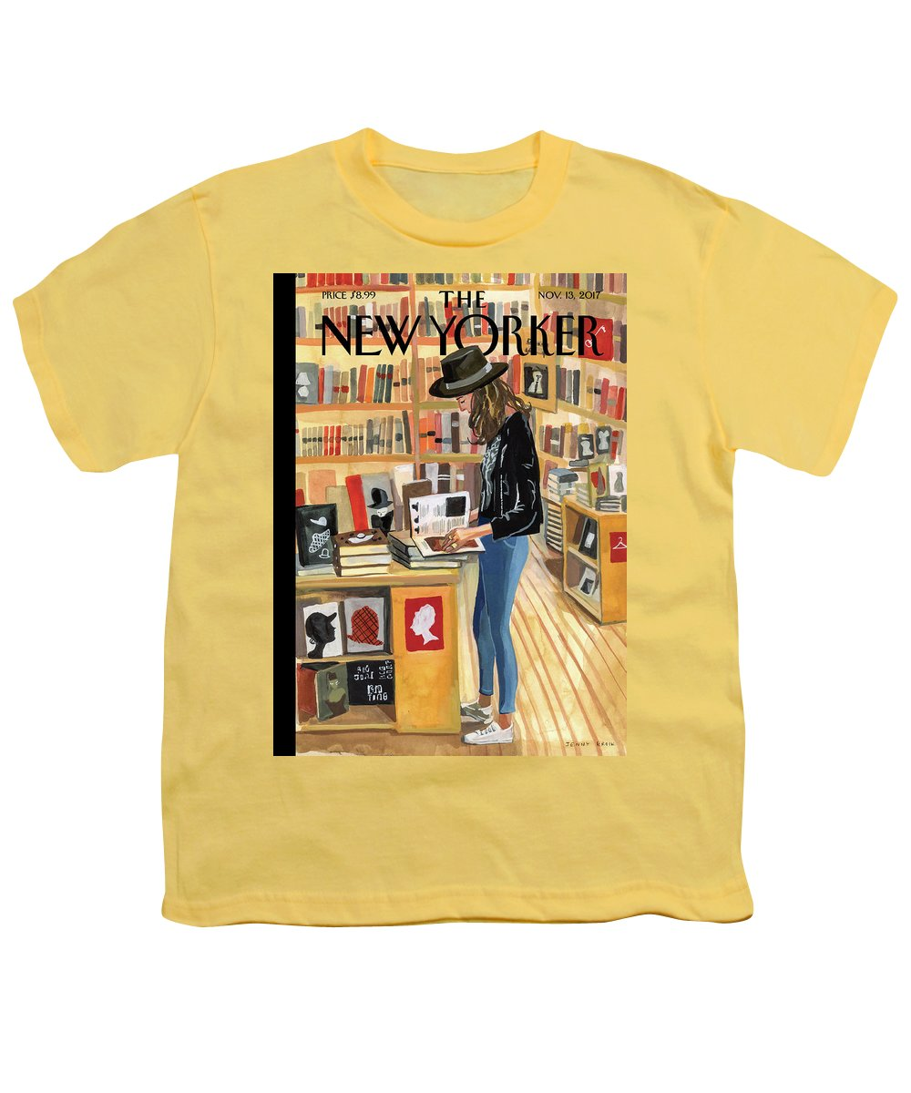 At The Strand Youth T-Shirt featuring the painting At The Strand by Jenny Kroik