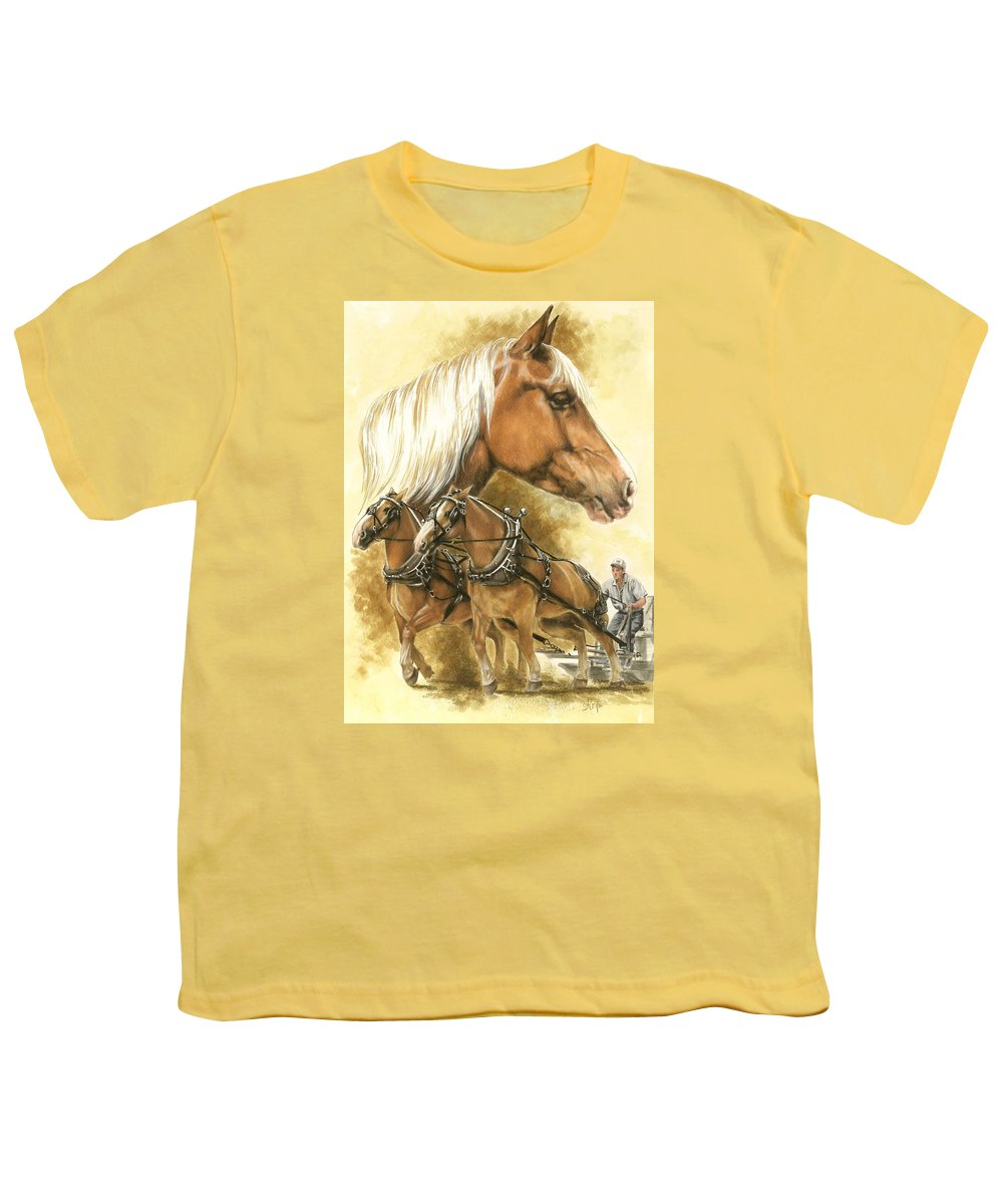 Art Youth T-Shirt featuring the mixed media Belgian by Barbara Keith