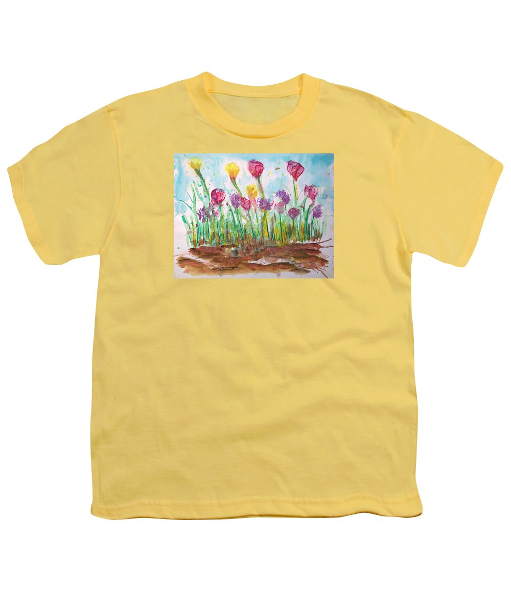 Flowers Youth T-Shirt featuring the painting Blooming Colors by J R Seymour