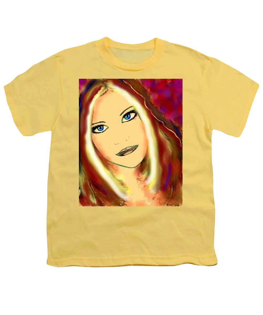 Woman Youth T-Shirt featuring the painting Blue Eyes by Natalie Holland