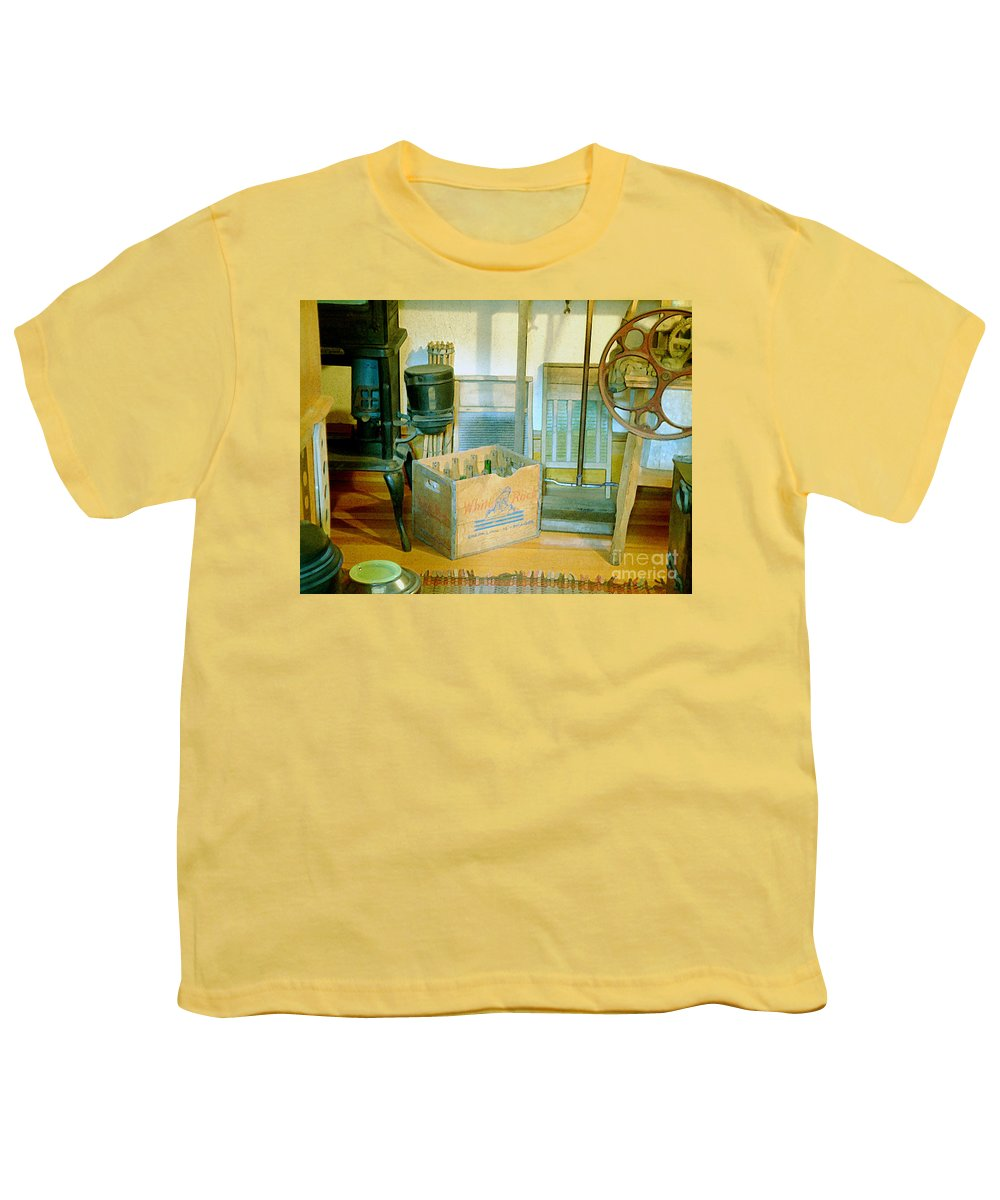 Kitchen Youth T-Shirt featuring the painting Country Kitchen Sunshine II by RC deWinter