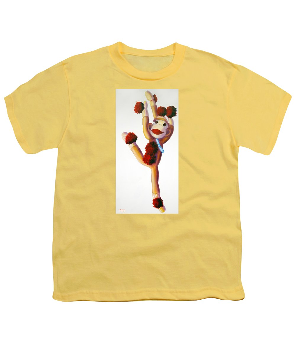 Dancer Youth T-Shirt featuring the painting Dancer Made Of Sockies by Shannon Grissom
